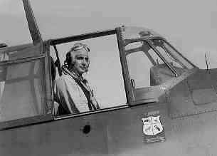 Robert Henry Isely on his plane